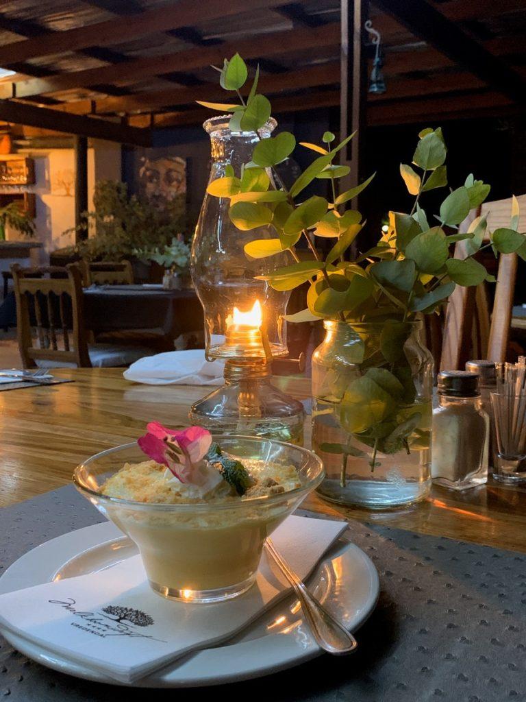 Dinner served @ The Kitchen, Melkboomsdrift Guest House