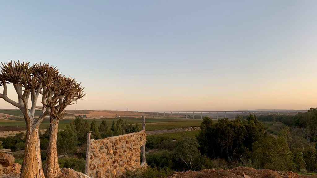 View of the Saldanha-Sishen Bridge from Melkboomsdrift Guest House